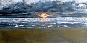 "'One Mile Beach AU' 60""x30""x1.5"" acrylic on canvas.  Price for 3 month rental."
