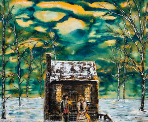 "'Taanishi Piihtikway' (Michif - 'Hello, Come In') 36""x30""x1.5"" acrylic on canvas.  Price for 3 month rental."