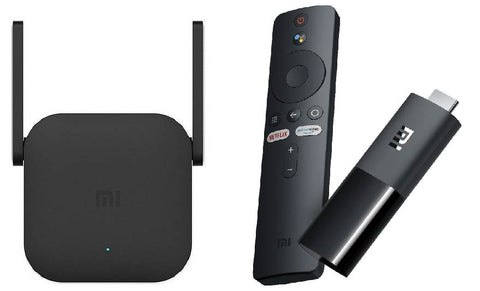 Combo Repetidor Xiaomi Pro 300 M Black + Tv Stick