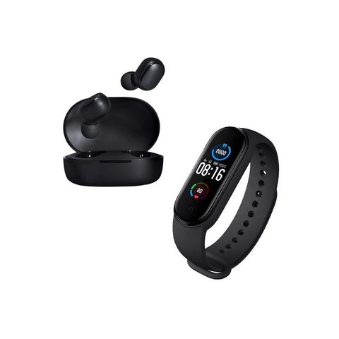 Combo Mi Band 4 + Audifonos Redmi Earbuds Basic 2 Bluetooth