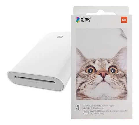 Papel Impresora Mi Portable Photo Printer Xiaomi 20 Hojas