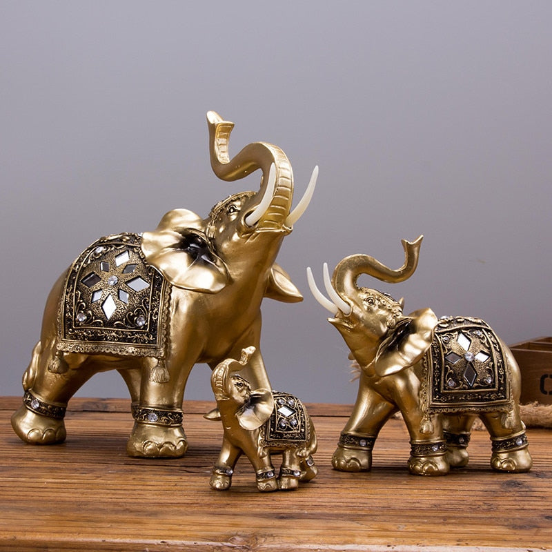 Brass Elephant Decor Showpiece