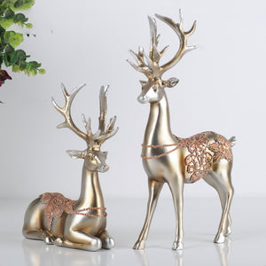 Resin Elk Sculpture Decoration