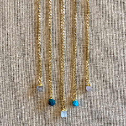Raw Birthstone Necklace