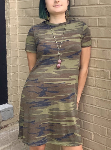 Carmen Camo Knit Dress