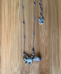 Flying Squirrel Pendant Necklace