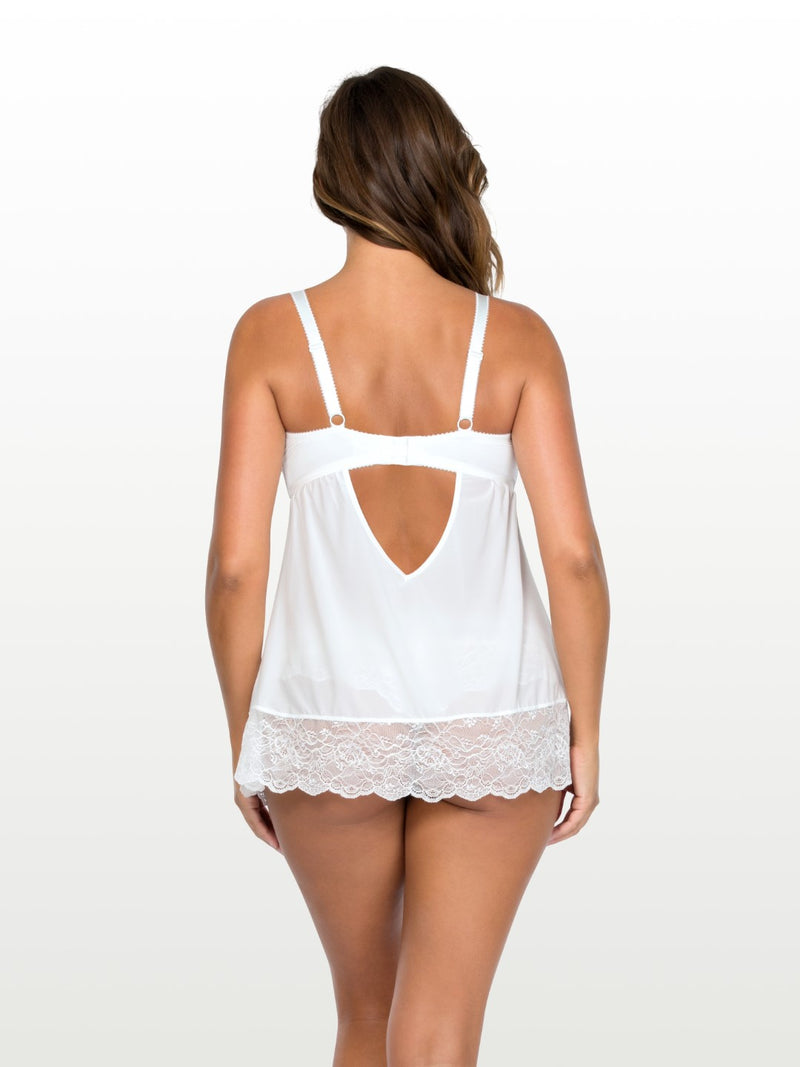 Elissa Unlined Wire Babydoll - Pearl white - P5018