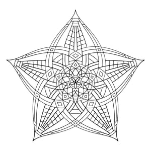 "Superstar - Geometric Coloring Poster - 12"" x 12"""