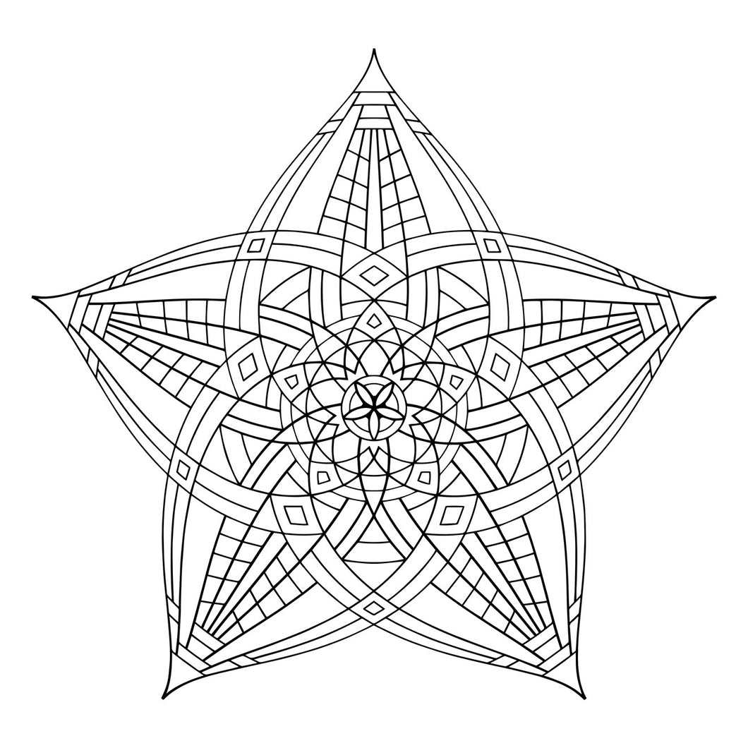 Superstar - Geometric Coloring Poster - 12