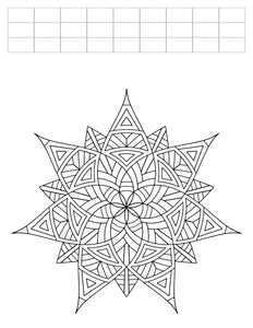 "Lucky Seven - Geometric Coloring Worksheet - 8.5"" x 11"""
