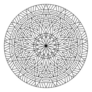 "Thirteenth Floor - Geometric Coloring Sheet - 8.5"" x 8.5"""