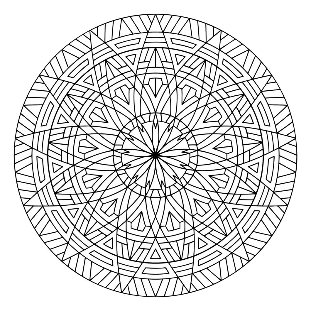 Thirteenth Floor - Geometric Coloring Sheet - 8.5