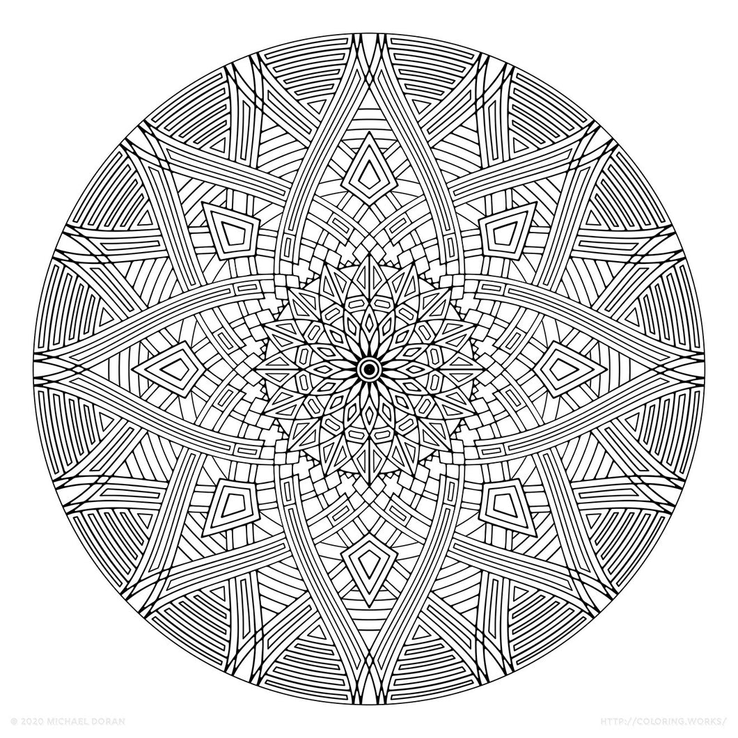 Four Winds (2020) - Geometric Coloring Poster - 17
