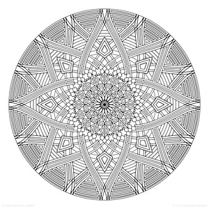 "Four Winds (2020) - Geometric Coloring Poster - 24"" x 24"""