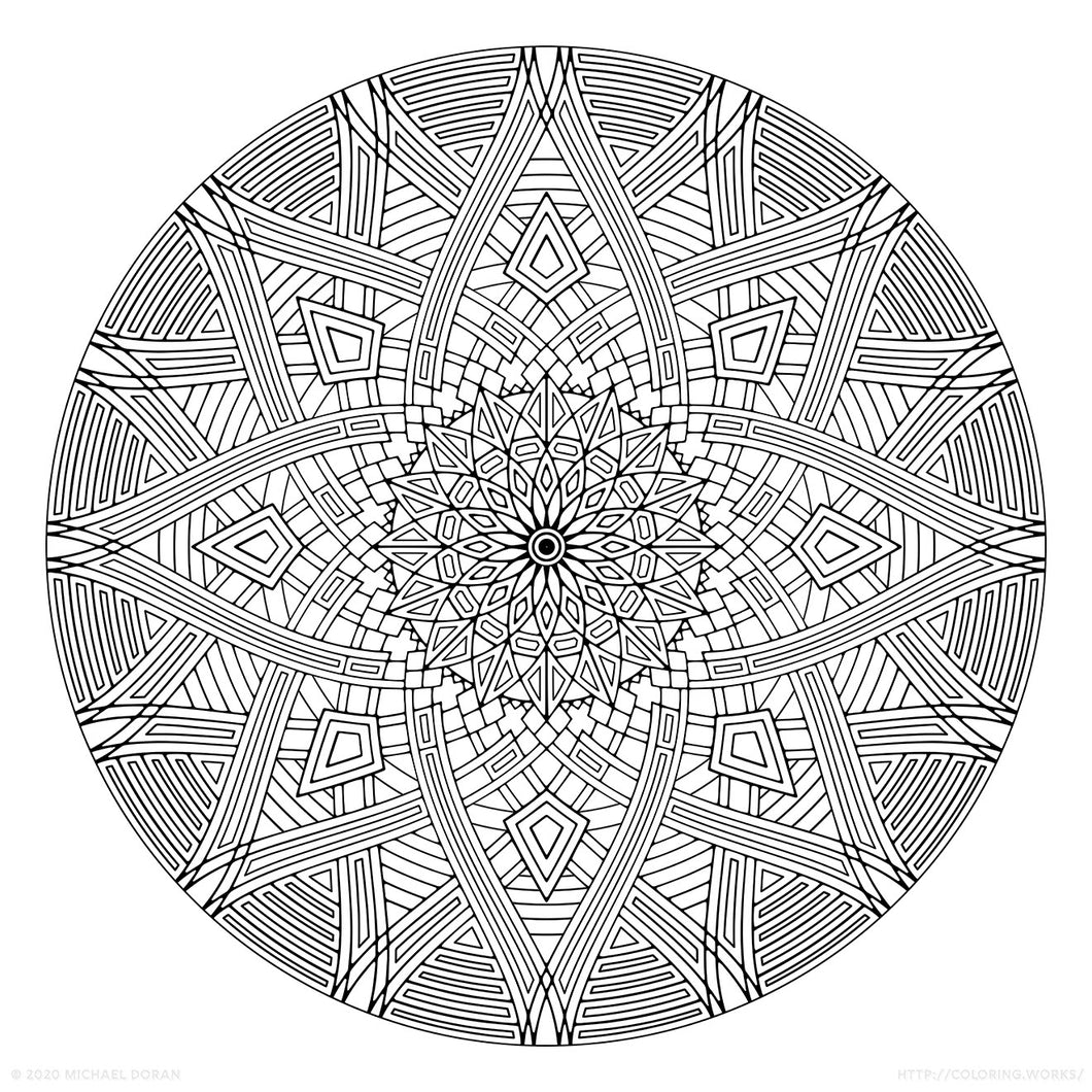 Four Winds (2020) - Geometric Coloring Poster - 24