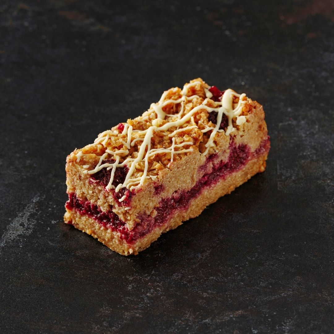 Raspberry & White Chocolate Flapjack - Grant's Bakery