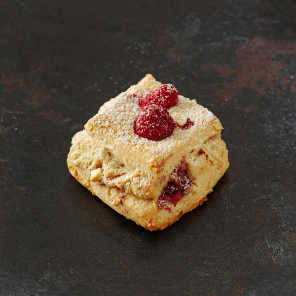 Raspberry & White Chocolate Scone - Grant's Bakery