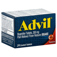 Advil Pain Reliever and Fever Reducer, 24 Coated Tablets (1 box)
