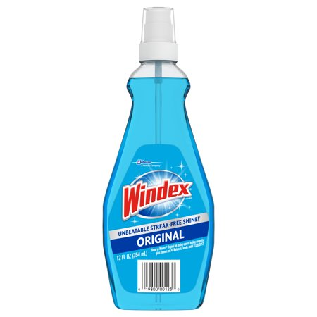 Windex Ammonia-D Glass Cleaner, Unscented (12 oz)