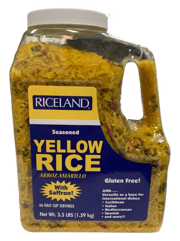RICELAND RICE, YELLOW PARBOILED SEASONED JUG 3.5 LBS
