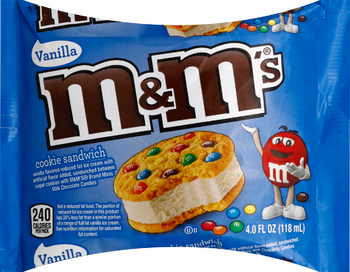 M&M's Vanilla Ice Cream Sandwich (4 oz)