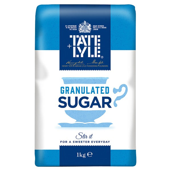 Sugar: Granulated x 1Kg Tate & Lyle