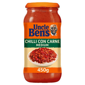 Sauce for Cooking: Uncle Bens Medium Chilli Con Carne x 450g