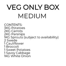 Load image into Gallery viewer, AC. Veg Only Box