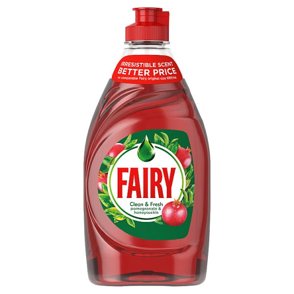 Washing Up Liquid: Fairy Pomegranate & Honeysuckle 433ML