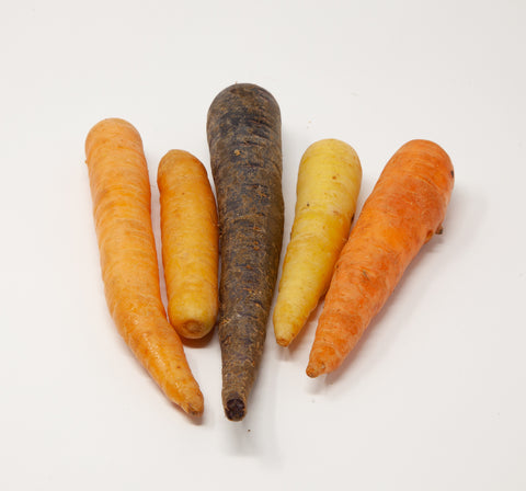 Spray-Free Rainbow Carrots