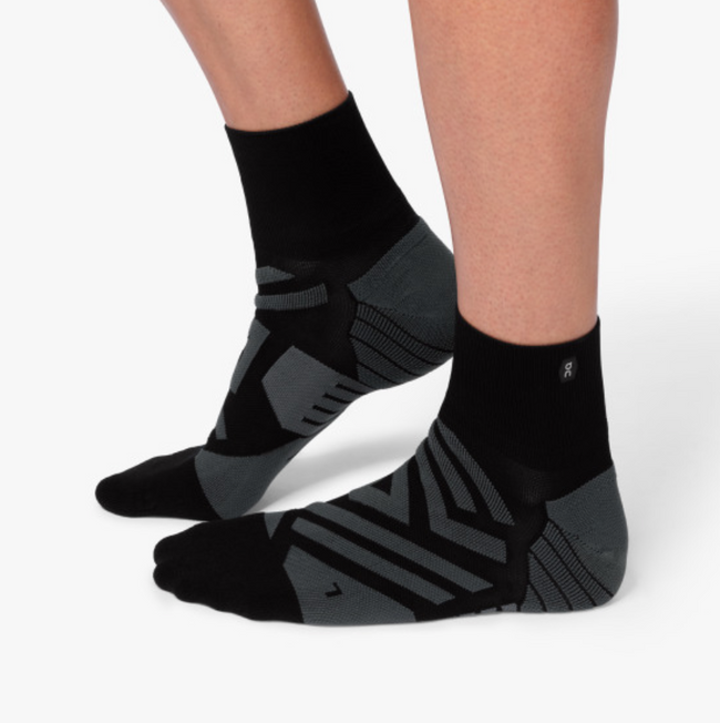 Mid Sock - Black I Shadow