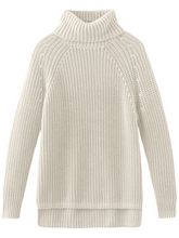 Load image into Gallery viewer, 525 shaker knit turtle neck