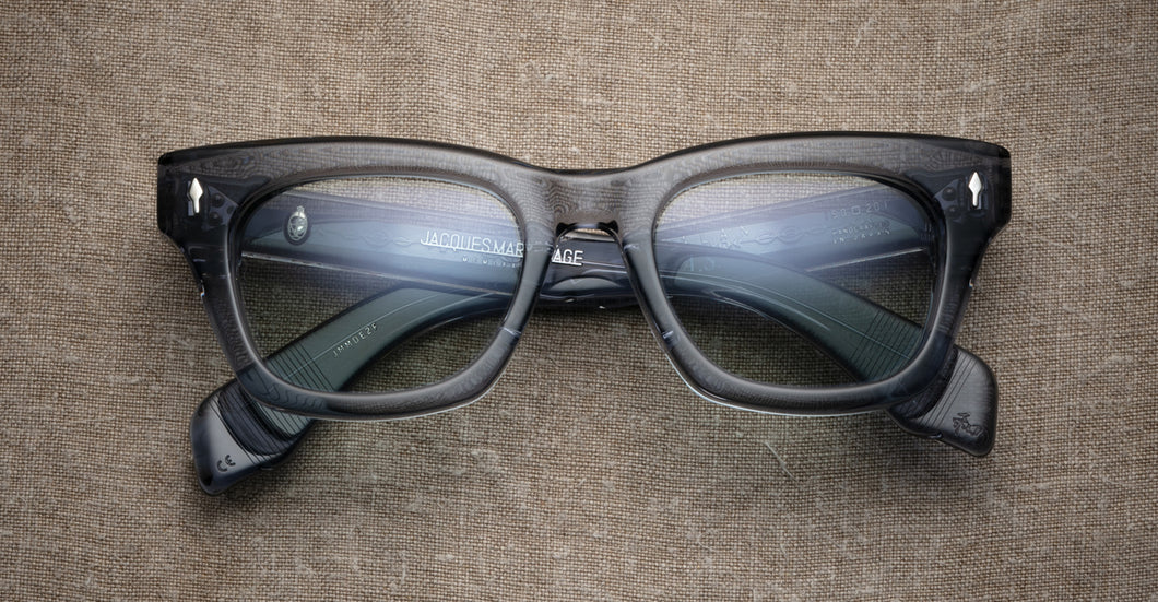Jacques Marie Mage Dealan AlessandroSquarzi Charcoal Limited Edition Sunglasses