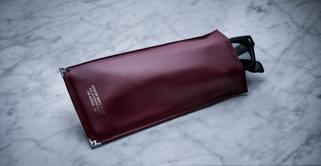 Jacques Marie Mage Softcase leather burgundy limited edition