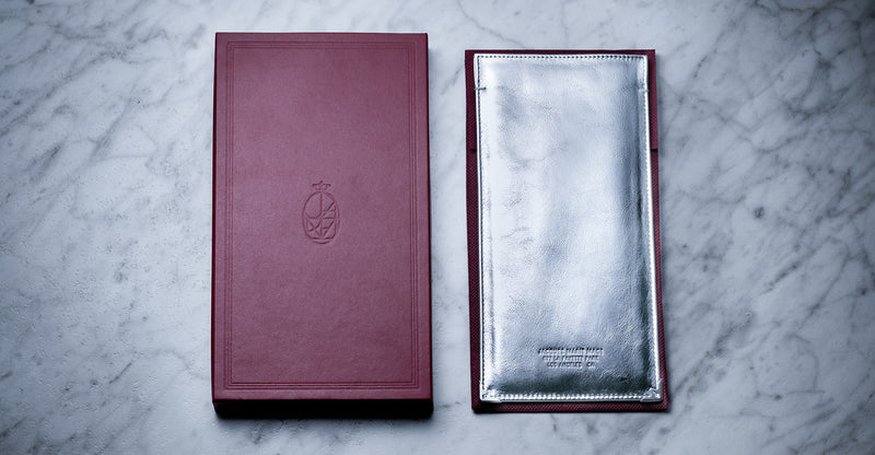 Jacques Marie Mage Softcase leather silver limited edition