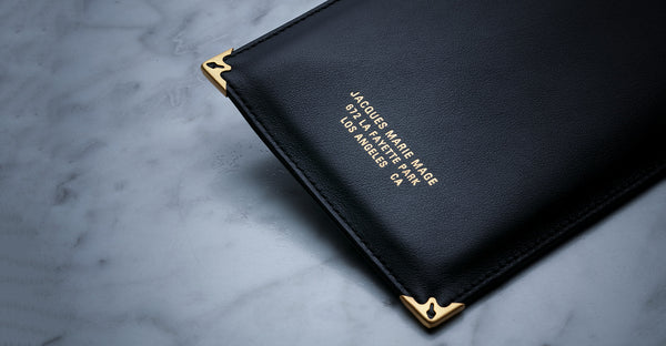 Jacques Marie Mage Softcase leather black limited edition