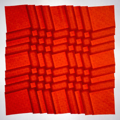 Gapped Clusters origami tessellation with rotated grid