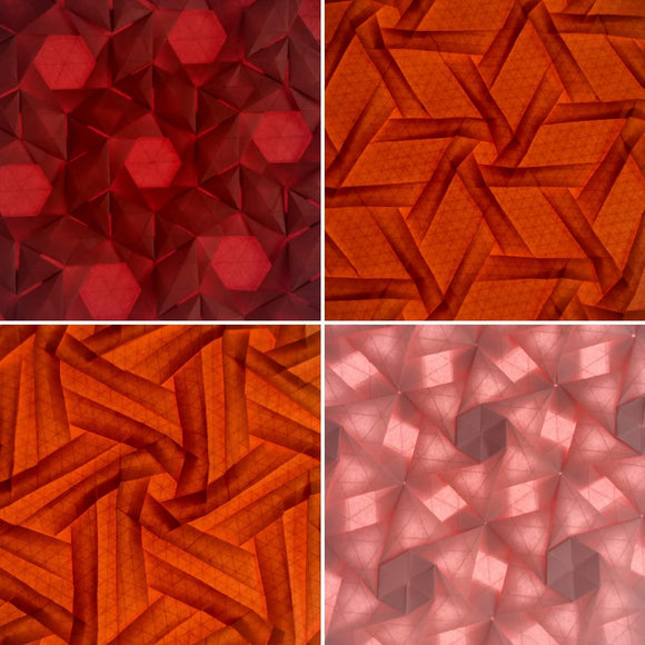 Straight from the Grid: Four tessellations without extra precreasing