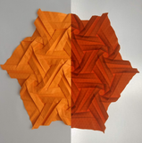Compound Tri-Hex (Dense) Suncatcher in Orange