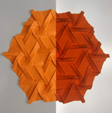 Compound Tri-Hex (Sparse) Suncatcher in Orange