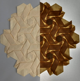 Double Rhombus Swirls Suncatcher in Cream