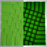 Half-Adjacent Squares Suncatcher in Green