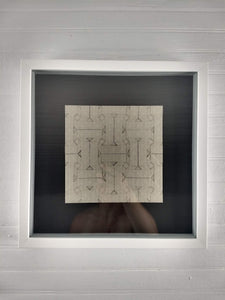 Open Parquet framed origami tessellation