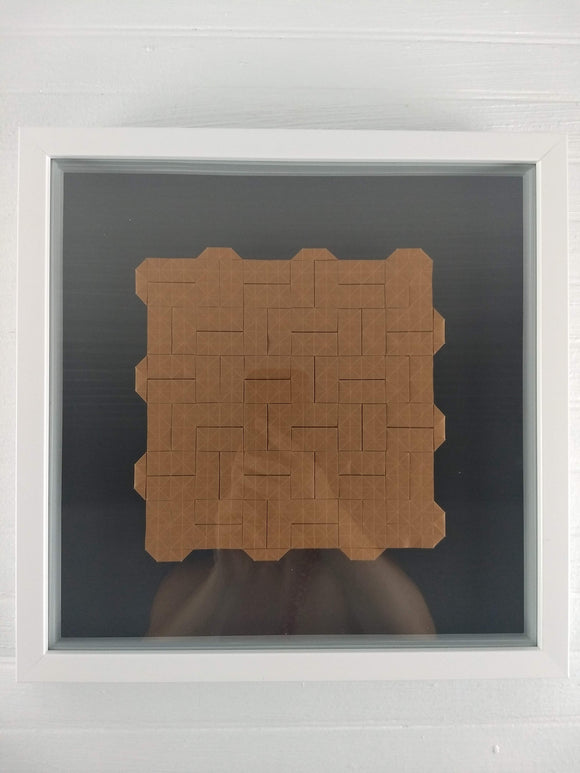 Closed Parquet framed origami tessellation