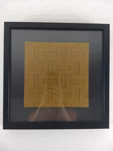 6 by 6 Parquet framed origami tessellation