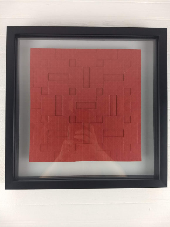 Semi-Adjacent Parquet framed origami tessellation