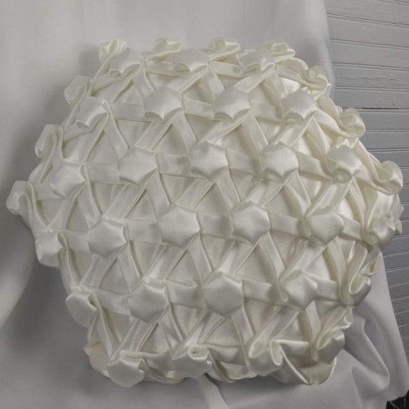 White Hexagons and Bars Accent Pillow