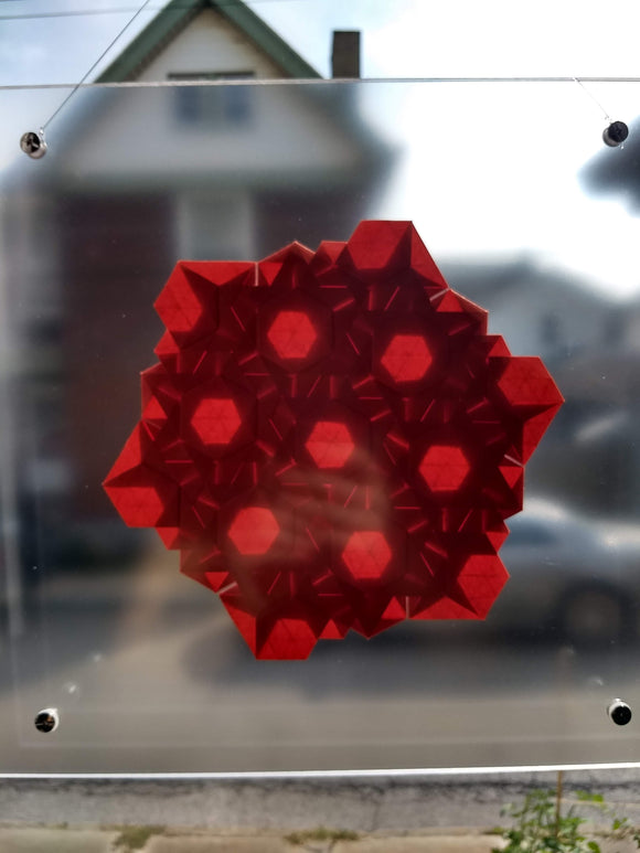 Lens Stars Suncatcher in Red