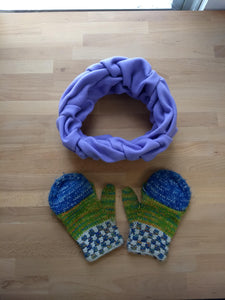 Double Herringbone Purple Scarf