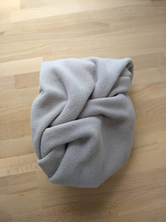 Double Loop Taupe Scarf